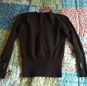 Sarah Spencer Sweaters - Sarah Spencer 100% Merino Wool Brown Sweater Small